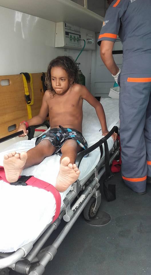 Kauê Alohinha é atendido após torção no pé / Foto Divulgação