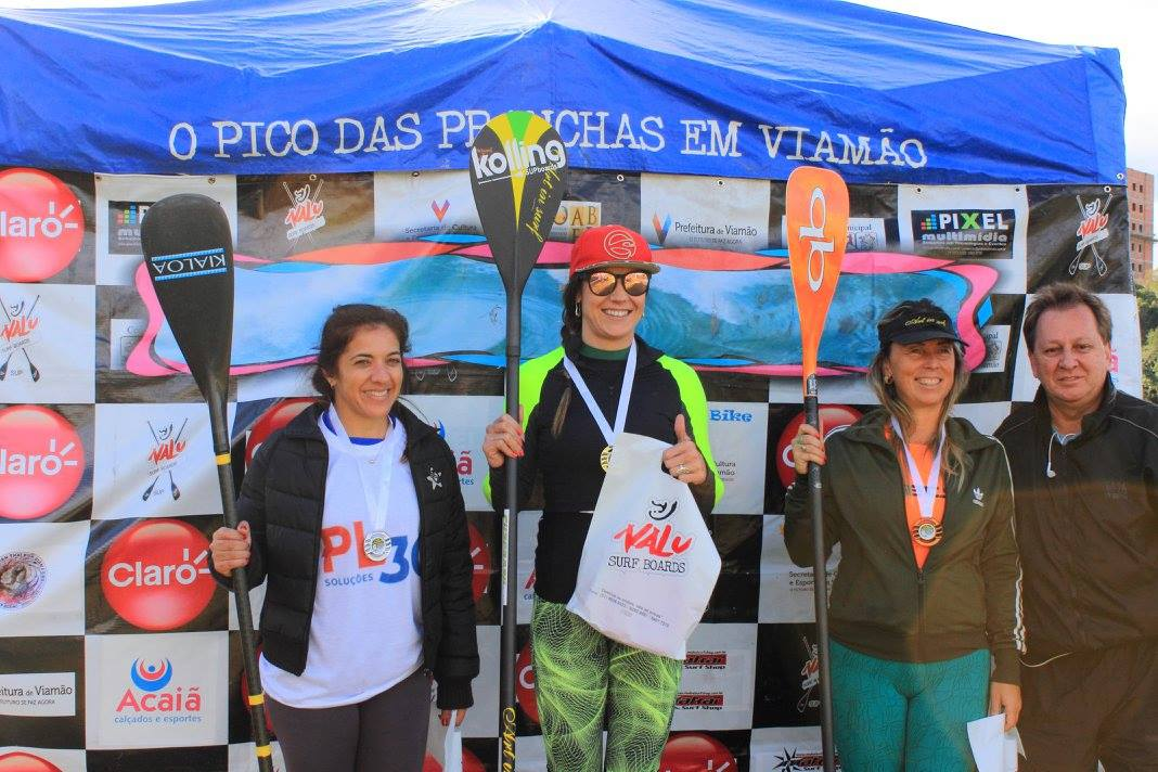 Podium Categoria SUP Race Feminino 2