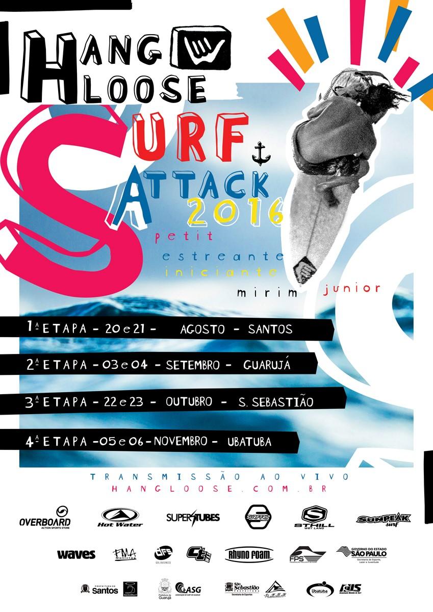 cartaz do hang loose surf attack 2016
