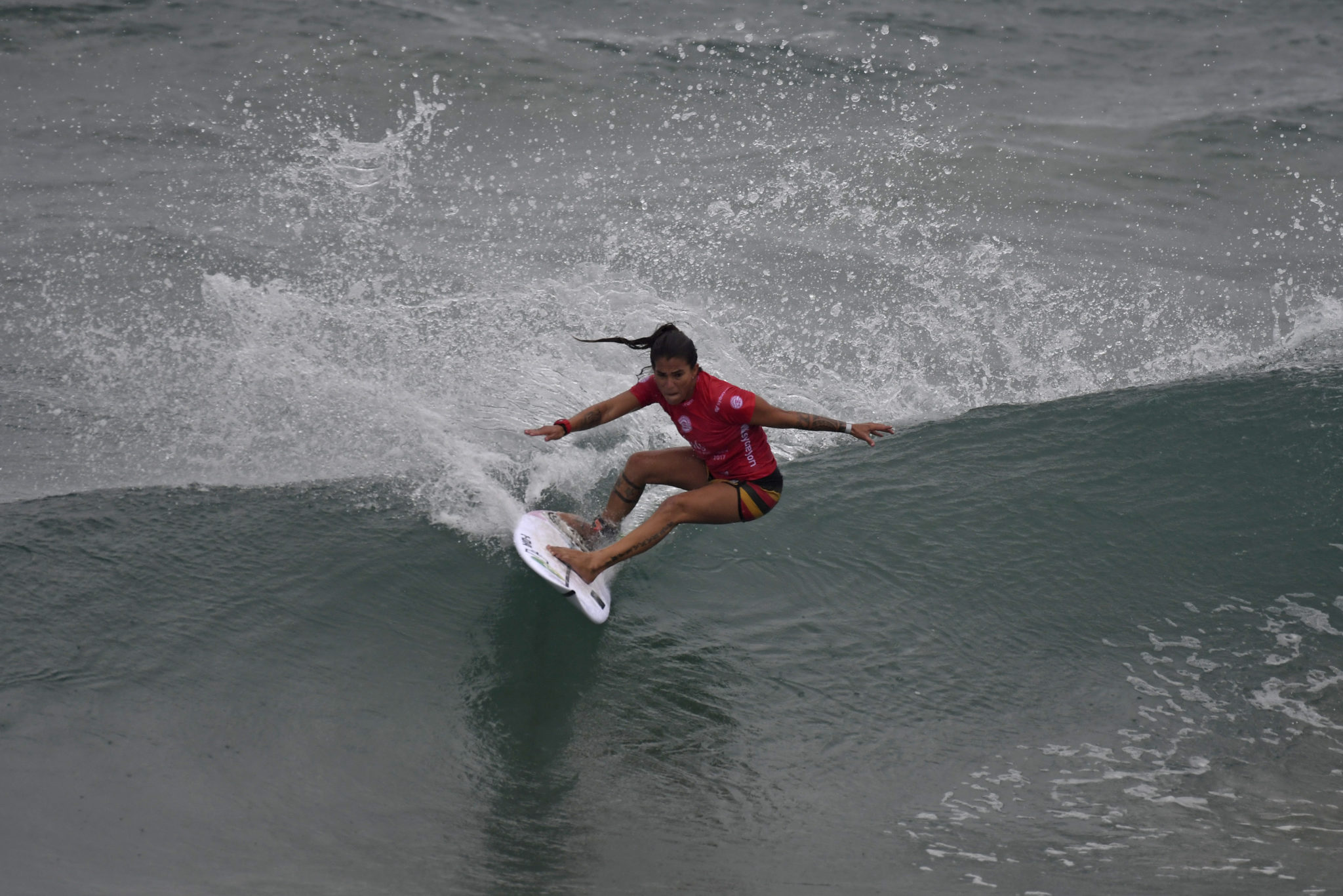 Silvana Lima placed second in Heat 3 of Round 3 at the Girls Make Your Call Women's Pro.