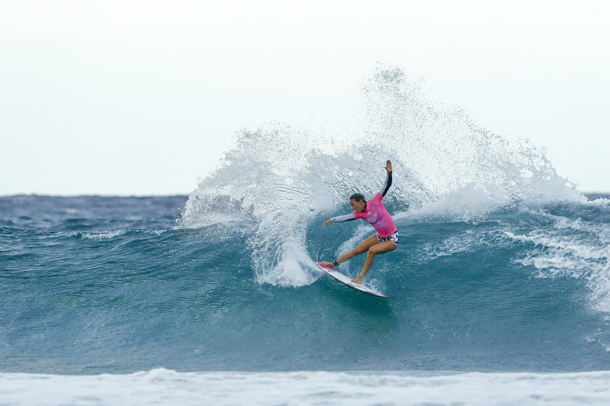 Sally Fitzgibbons of Australia advanced to the quarterfinals after winning Heat 3 of Round Four at the Roxy Pro Gold Coast, Australia.