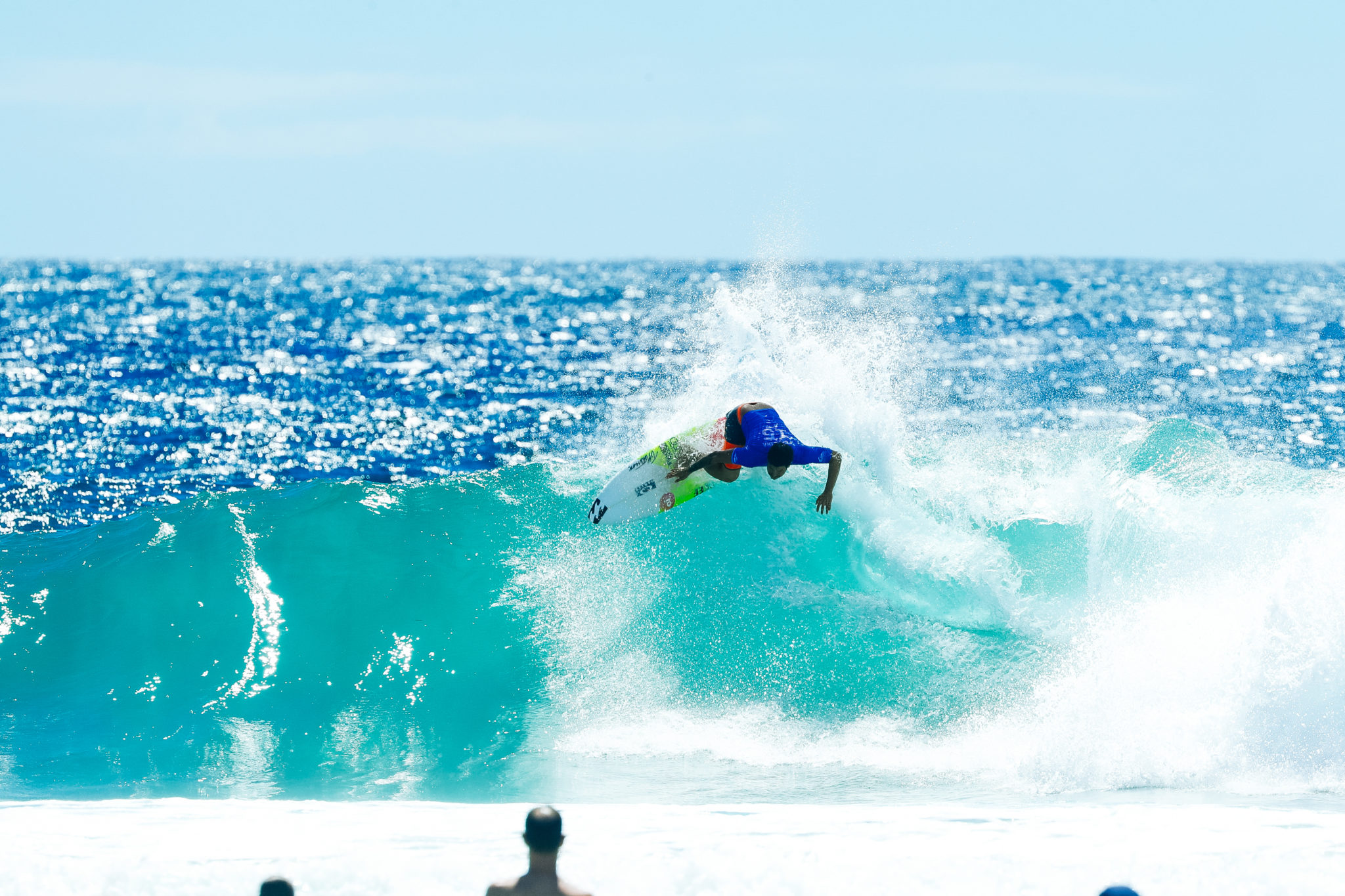 Italo Ferreira of Brazil placed second in Heat 2 of Round Four at the Quik Pro, Gold Coast Australia.