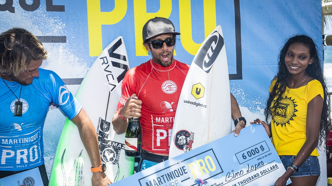 Bino Lopes (BRA)  Placed 2nd in Final of the Martinique surf Pro 2017