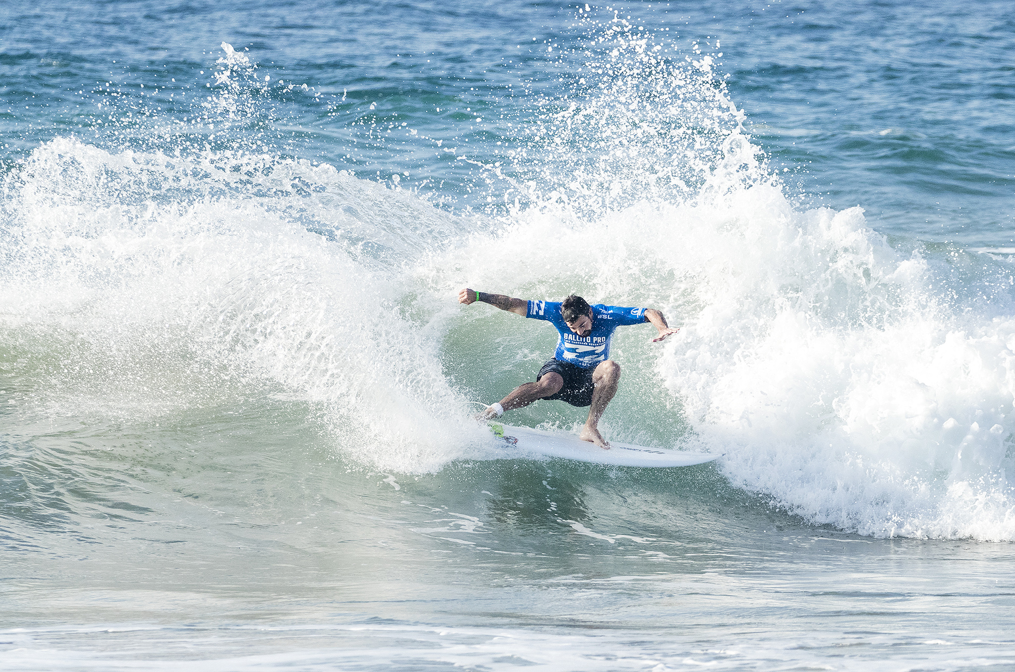 Willian Cardoso of Brazil advances to the Semifinals of the Ballito Pro presented by Billabong after winning Quarterfinal Heat 4 at Willard Beach, Ballito, South Africa.