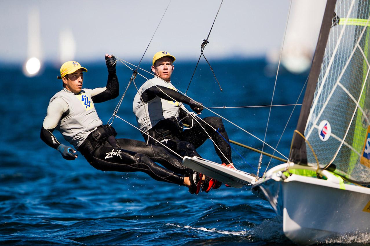 Dupla venceu a segunda regata no Europeu (Pedro Martinez / Energy Sailing)