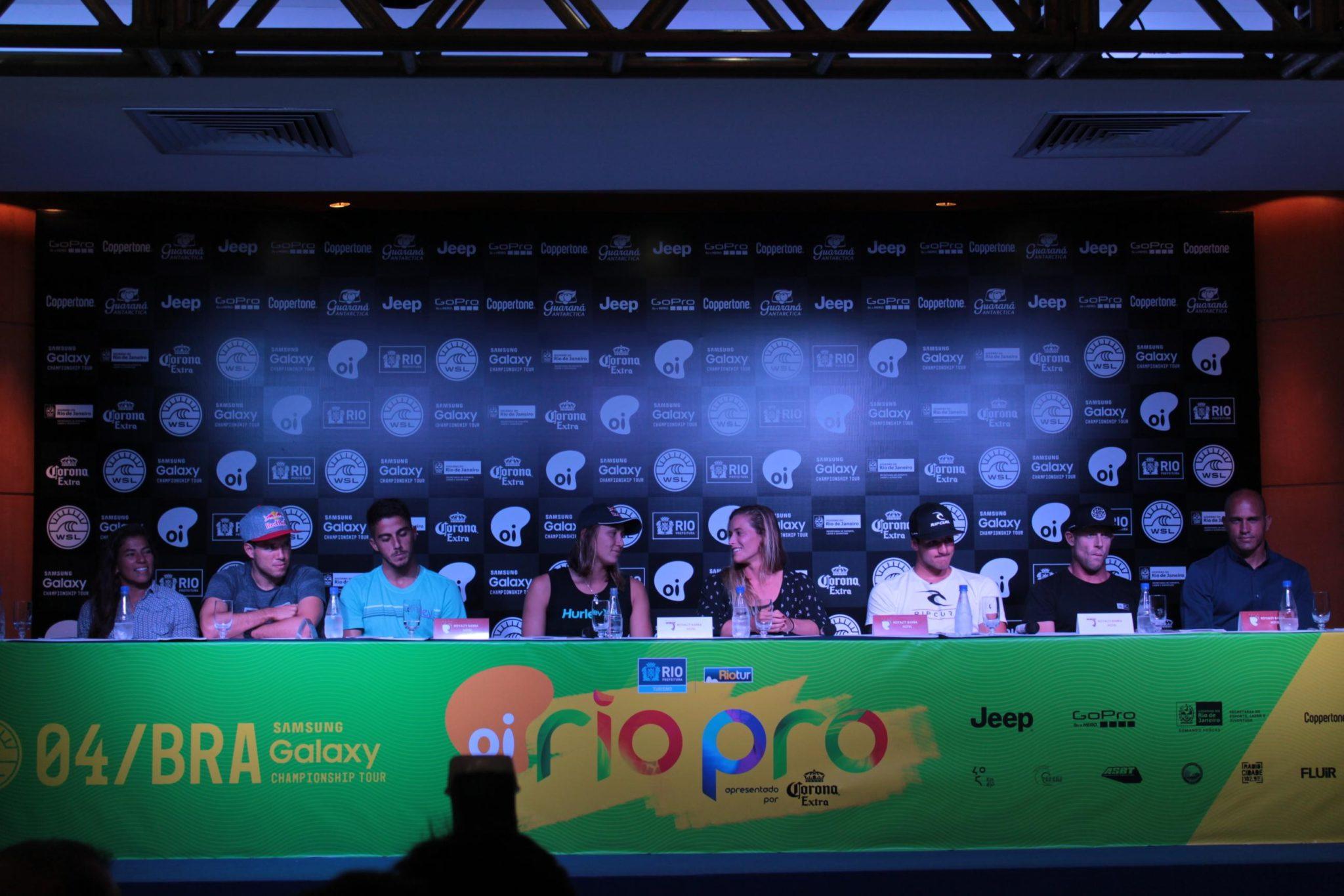 Oi Rio Pro realiza coletiva de imprensa nesta quinta-feira