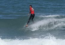 Fabio Amicci venceu na Longboard, no Tombo, em Guarujá / Foto Munir El Hage