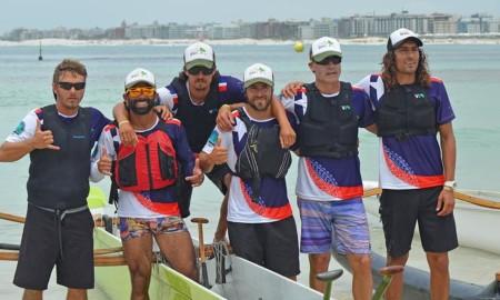Equipe do Chile é uma das atrações da Canoa Havaiana em Santos