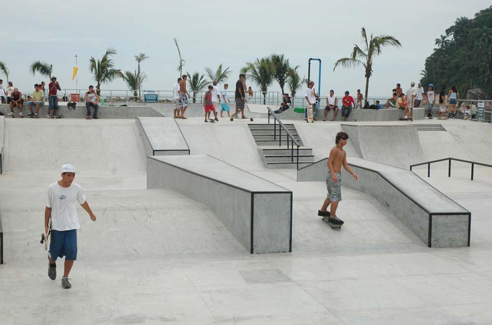 Pista de Skate do Quebra-Mar, em Santos / Foto Divulgação