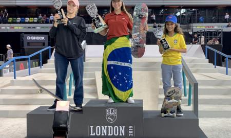 Pamela Rosa comandou o show brasileiro no Street League UK!