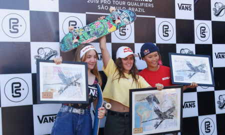 Yndiara Asp garantiu o primeiro lugar no Vans Park Series SP