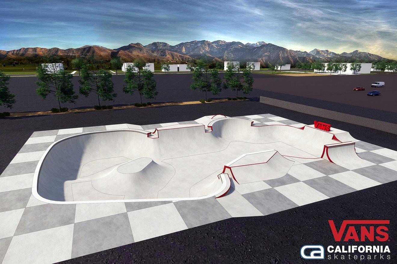 O novo Vans-Utah Sports Comission Skatepark projetado pela California Skateparks  (Divulgação)