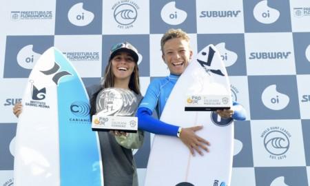 Heitor Mueller e Isabela Saldanha vencem o Oi Pro Junior Series de Floripa