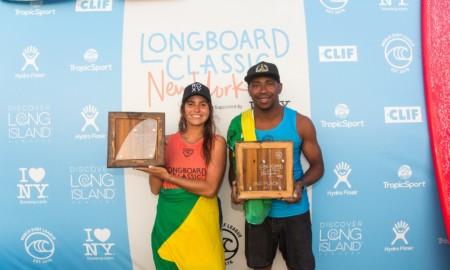 Chloé Calmon e Jefson Silva são vice-campeões no Mundial de Longboard
