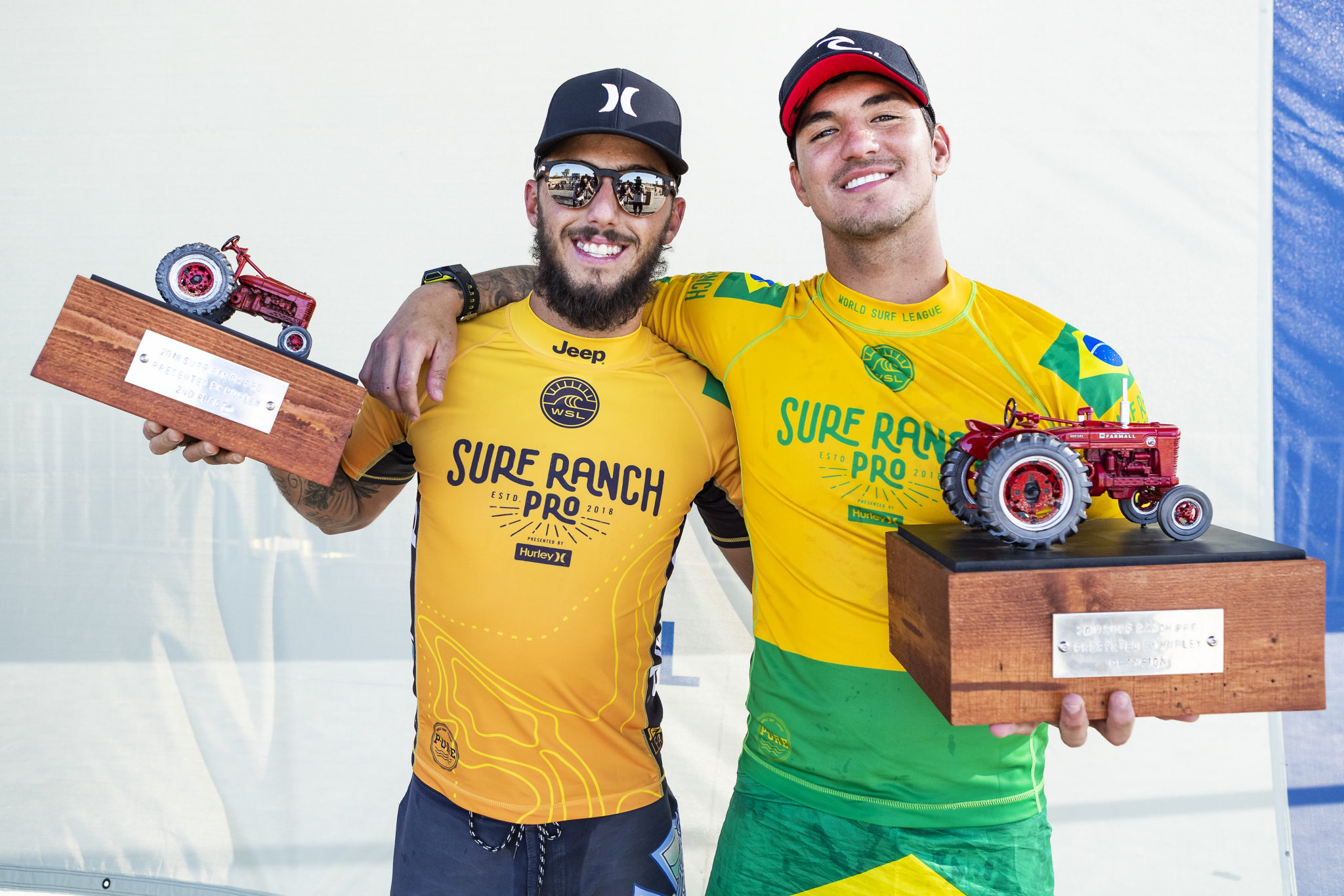 Filipe e Medina no Suirf Ranch 2018 (Kelly Cestari / WSL via Getty Images)