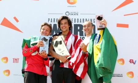 Brasil no pódio com Luizinho e Quintas, americano vence o Mundial de Park