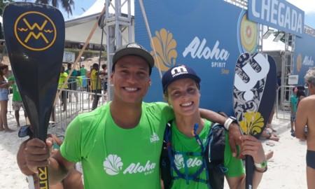 Lena Ribeiro e Eri Tenório são destaques no SUP do Aloha Spirit em Cabo Frio