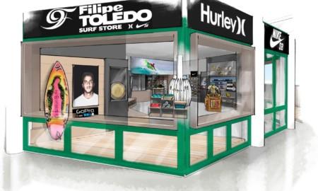 Filipe Toledo lança loja com seu nome em Ubatuba