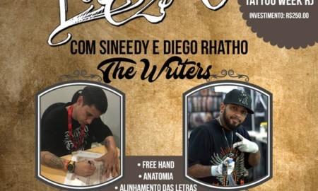 Workshop duplo de Lettering com Sineedy e Diego Rhatho