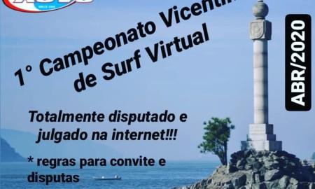 ASVS realiza o seu Primeiro Campeonato Vicentino de Surf Virtual
