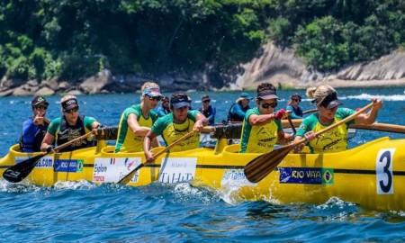 Equipe de Niterói estreia nos 75 km do campeonato de Canoa Havaiana em Santos