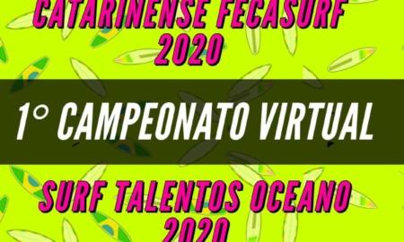 Inscrições abertas para etapa do Surf Talentos Oceano Virtual 2020