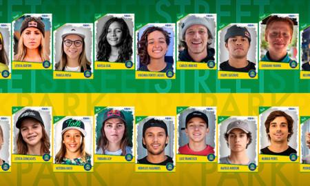 Seleção Brasileira de Skate agora conta com 22 atletas