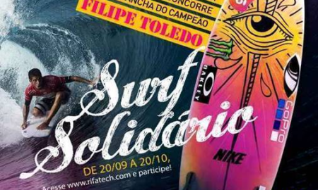 Prancha de Filipe Toledo ajudará entidades sociais de Ubatuba e Santos