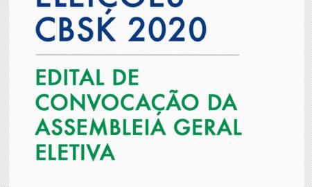 Eleição para presidente, vice e Conselho Fiscal da CBSk será em 13 de novembro