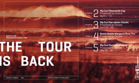 World Surf League confirma quatro etapas na perna australiana do Championship Tour 2021