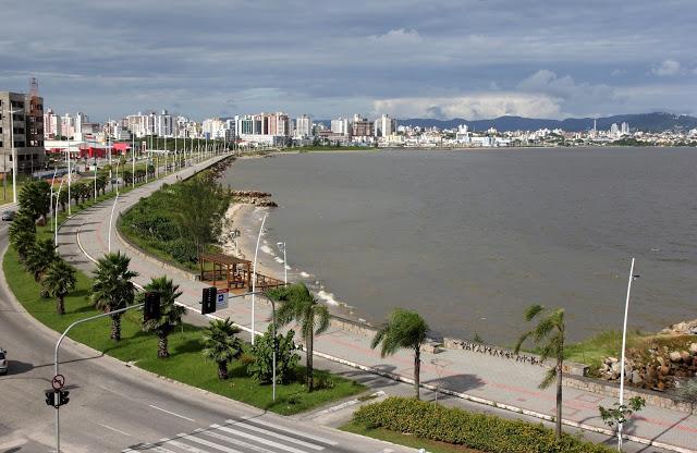 Avenida Beira-Mar de São José (SC), local da prova / Foto Viviana Ramos - Secom/PMSJ