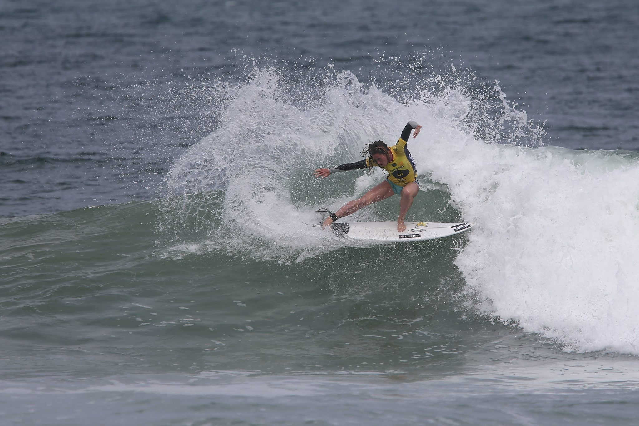 Courtney Conlogue of the USA during round three at the Oi Rio Pro in Rio de Janeiro, Brasil on Wednesday May 11, 2016.