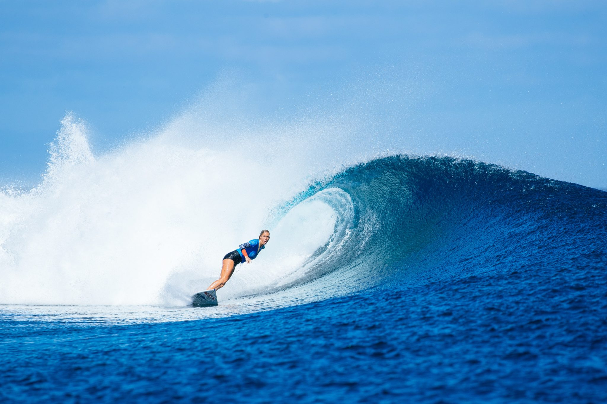 Bethany Hamilton during her round two heat.