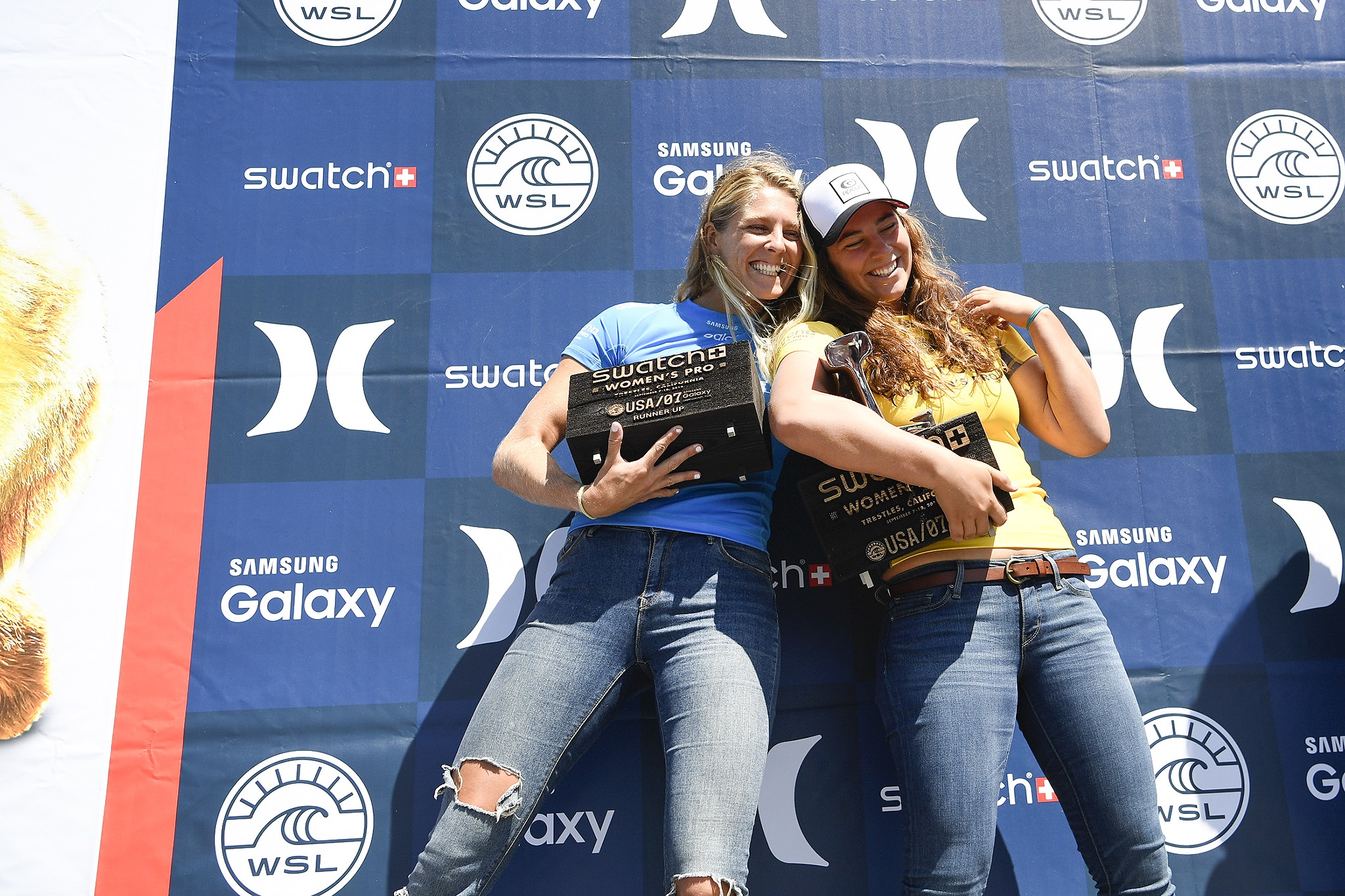 Tyler Wright is the 2016 Swatch Women's Pro WINNER and Stephanie Gilmore taking the runner-up placing.