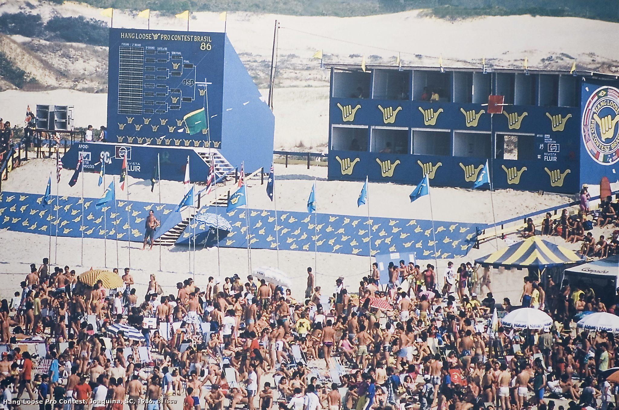 """Hang Loose Pro 86, o público lotou a """"joaca"""" / Foto Beto Issa"""
