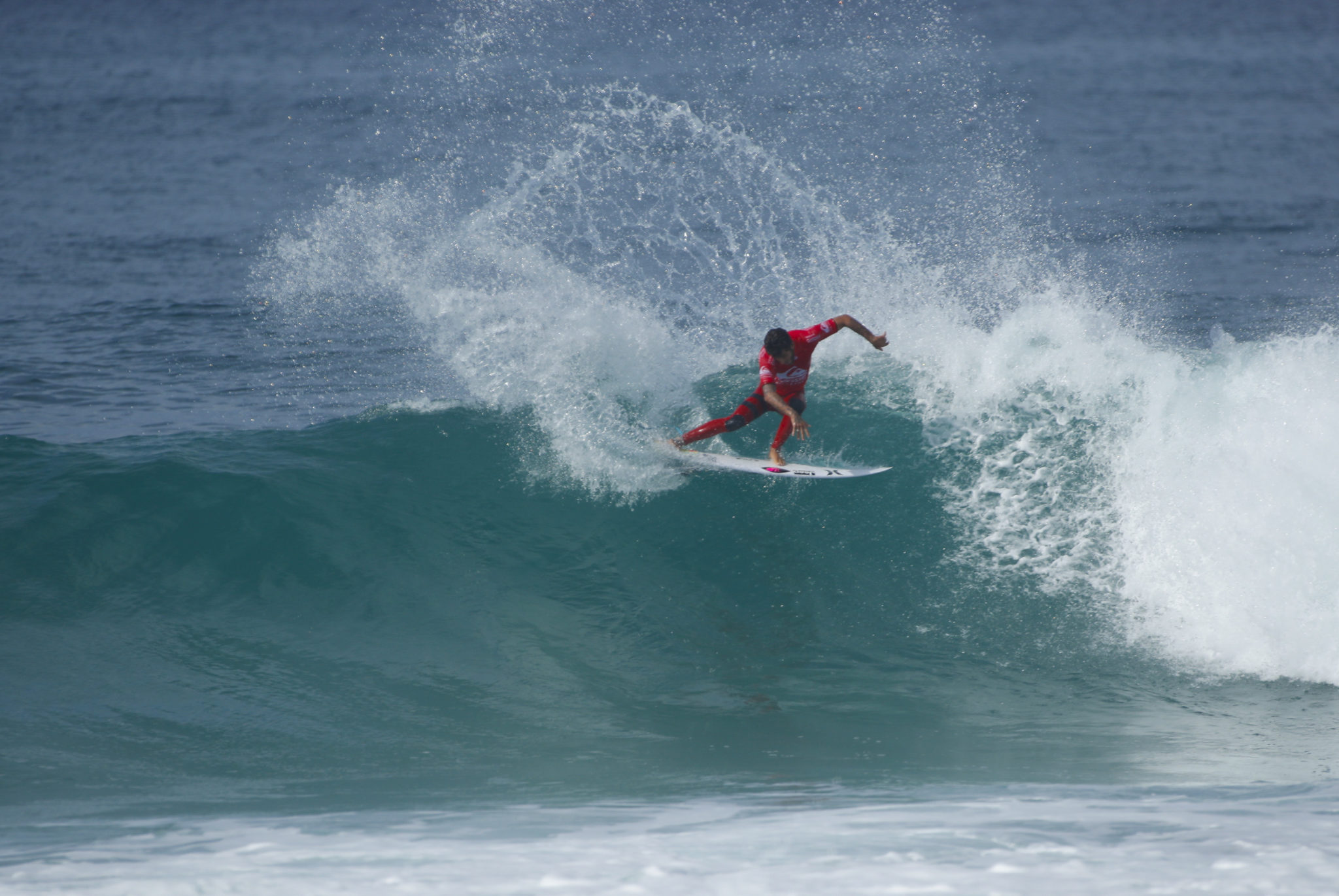 Filipe Toledo during Round 2 at the QUiksilver Pro France.