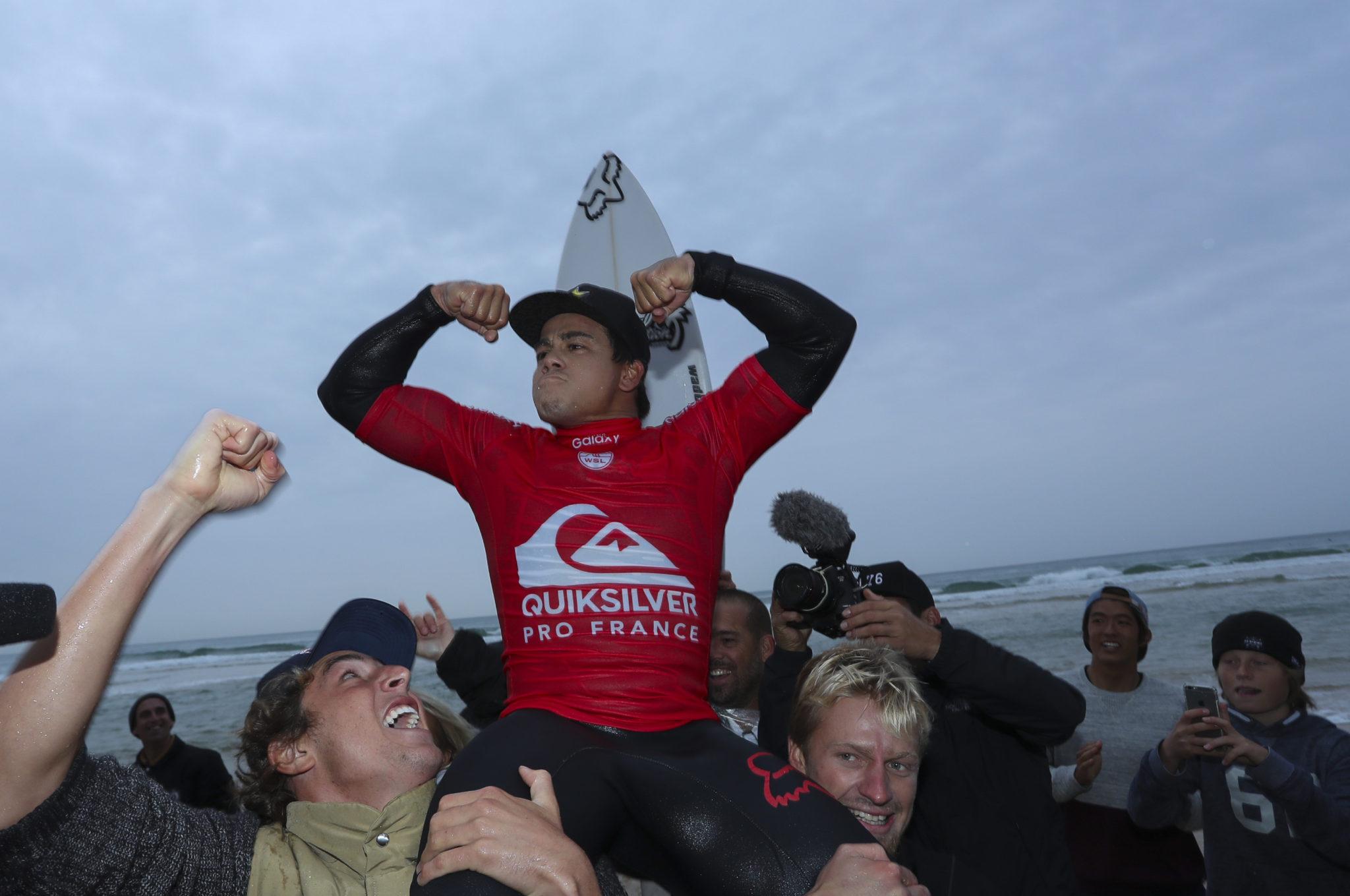Keanu Asing winning the Quiksilver Pro France.