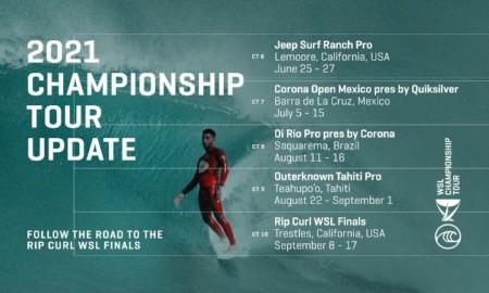 World Surf League confirma mudanças para o Tour 2021