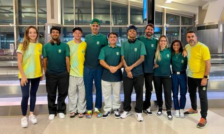 Seleção Brasileira Olímpica de Skate Street desembarca no Japão