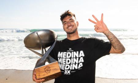 Medina é o sexto surfista da história a conquistar três títulos mundiais